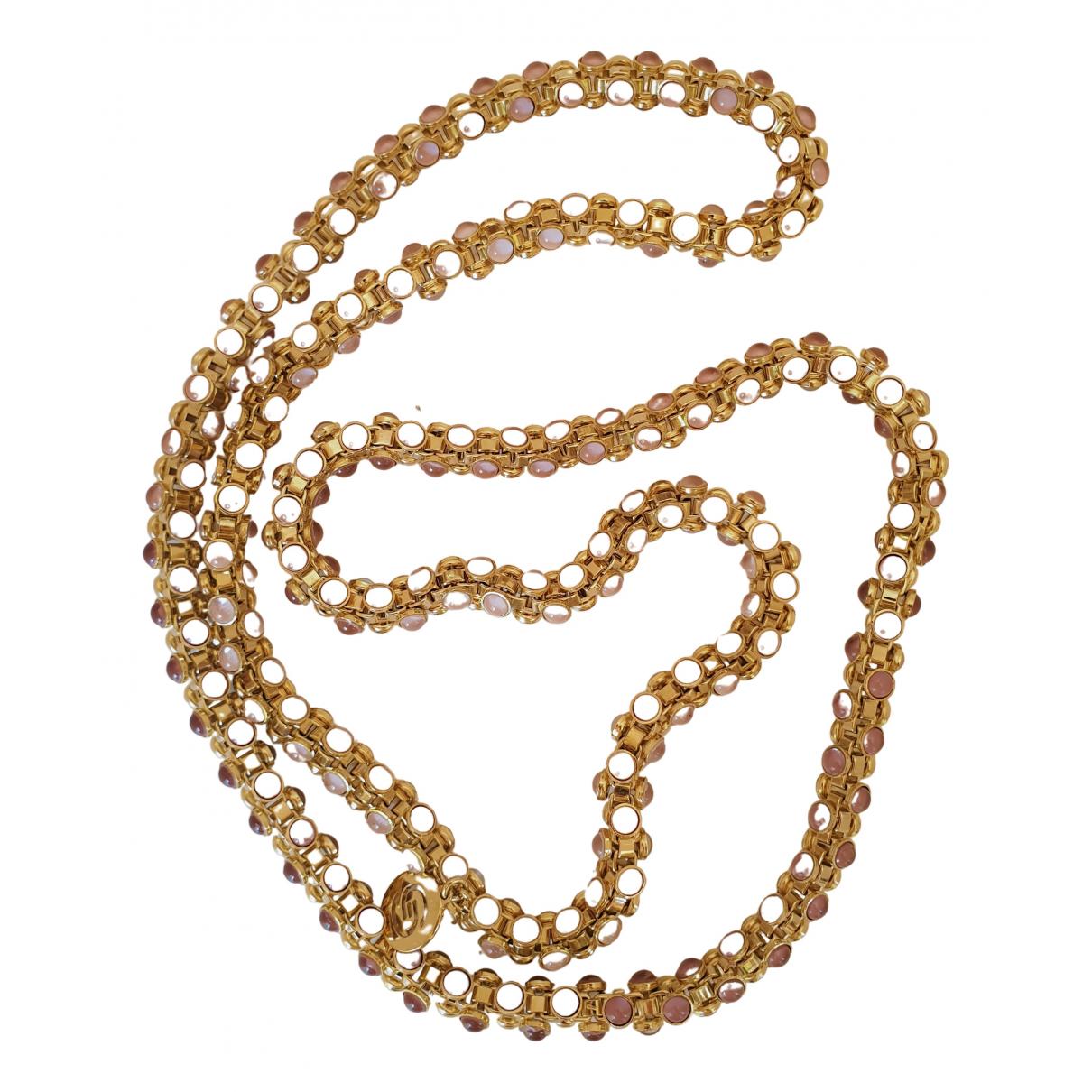Elie Saab \N Pink Metal Long necklace for Women \N