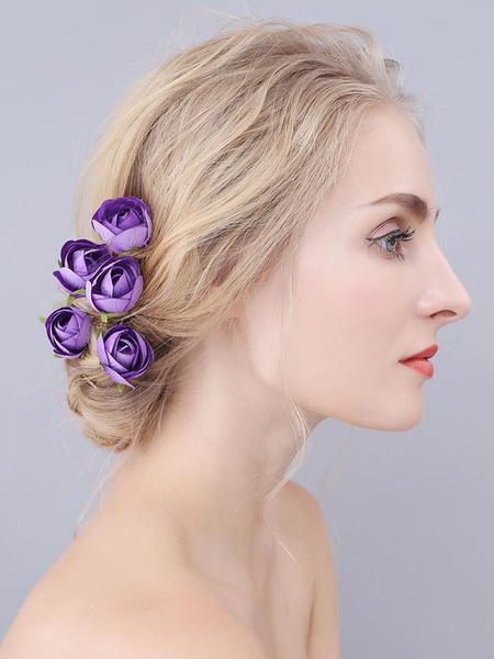 Milanoo Headpieces Wedding Accessory Metal Polyester Bridal Hair Accessories