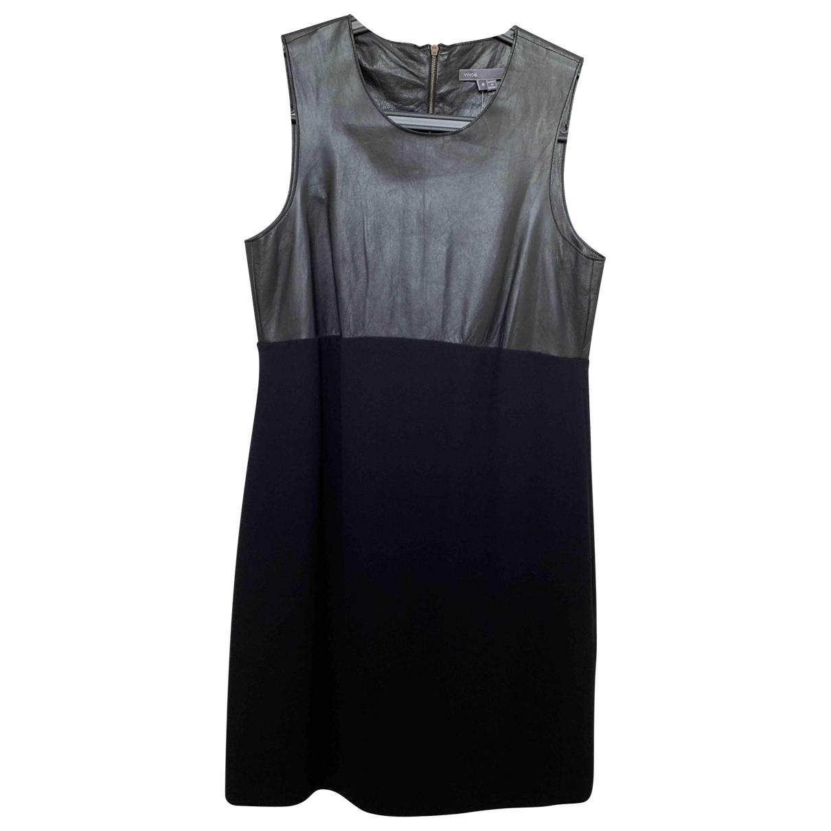 Vince \N Black Leather dress for Women 6 US