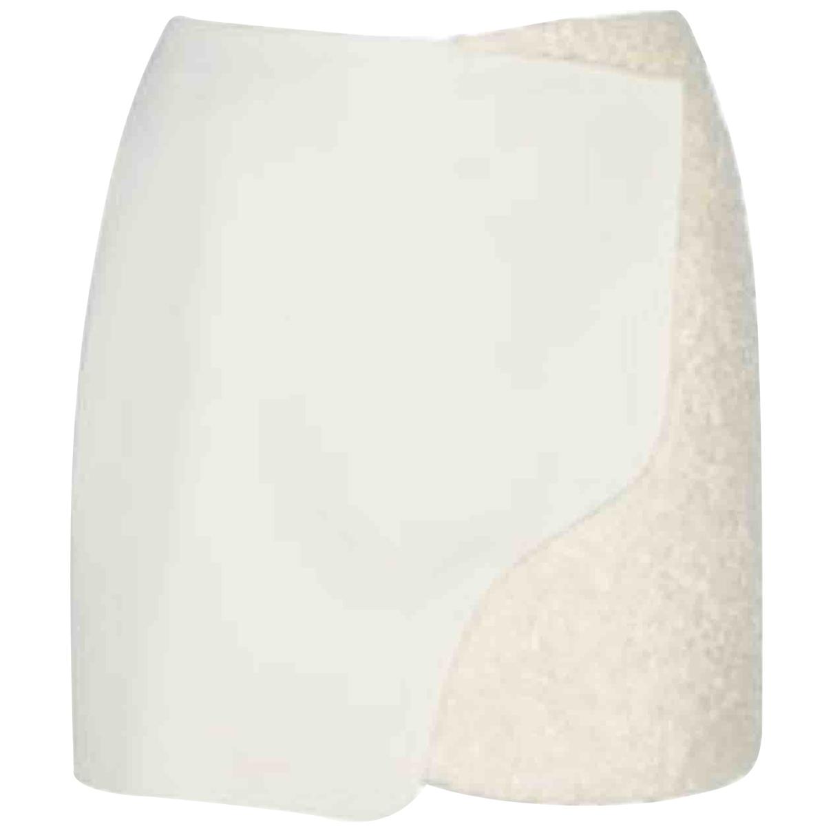 Maiyet - Jupe   pour femme en laine - beige