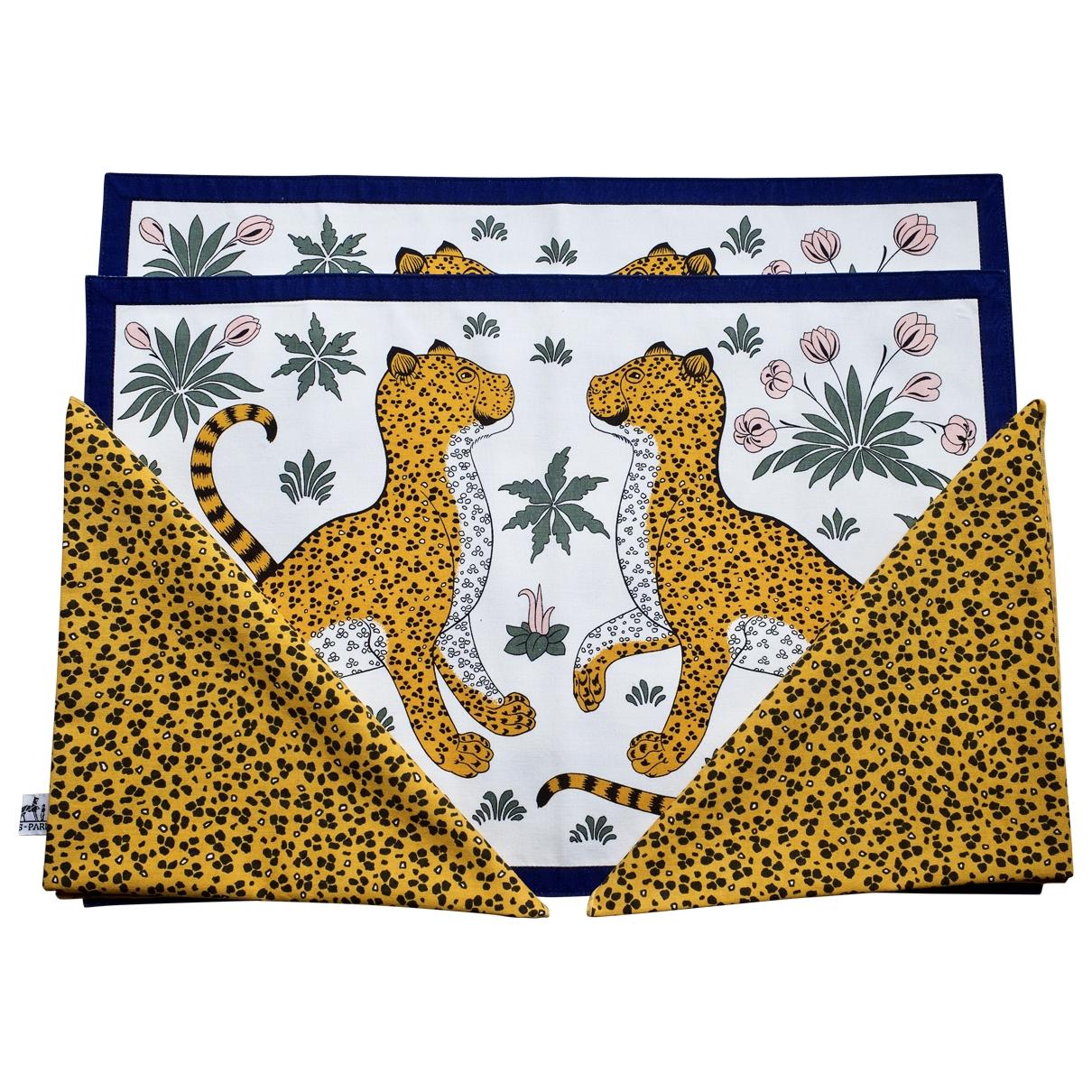 Hermès Les Léopards Multicolour Cotton Textiles for Life & Living \N