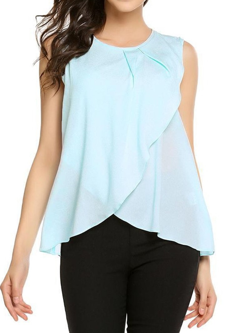 Ericdress Suspenders Polyester Round Neck Single Casual Tank Top