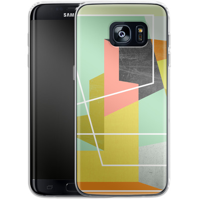 Samsung Galaxy S7 Edge Silikon Handyhuelle - Color Block II von Susana Paz