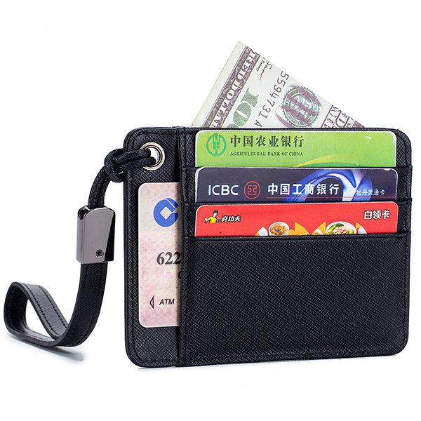Genuine Leather 6 Card Slots Card Holder Wallet For Men