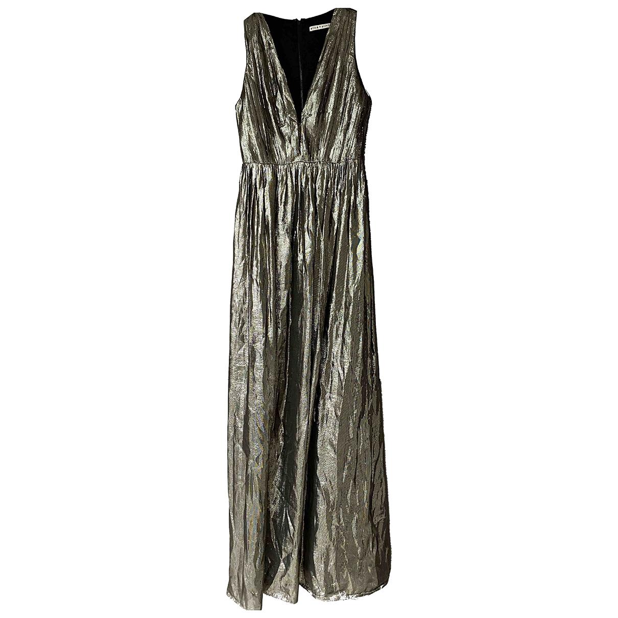 Alice & Olivia \N Gold dress for Women 2 US