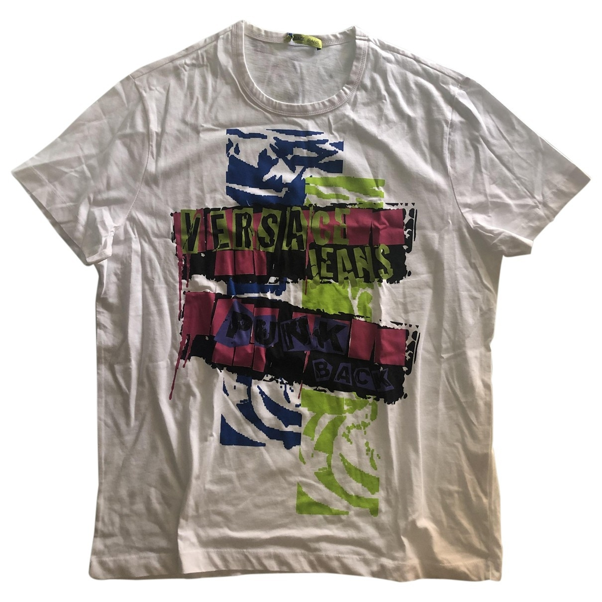 Versace Jeans \N White Cotton T-shirts for Men 5 0 - 6