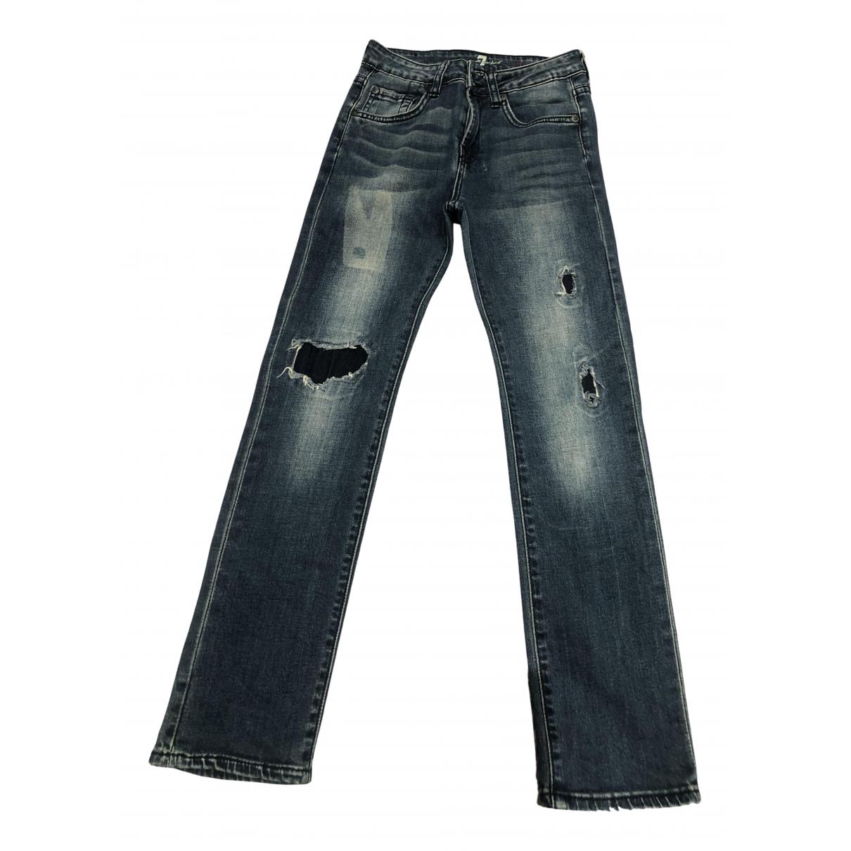 7 For All Mankind - Pantalon   pour enfant en coton - bleu