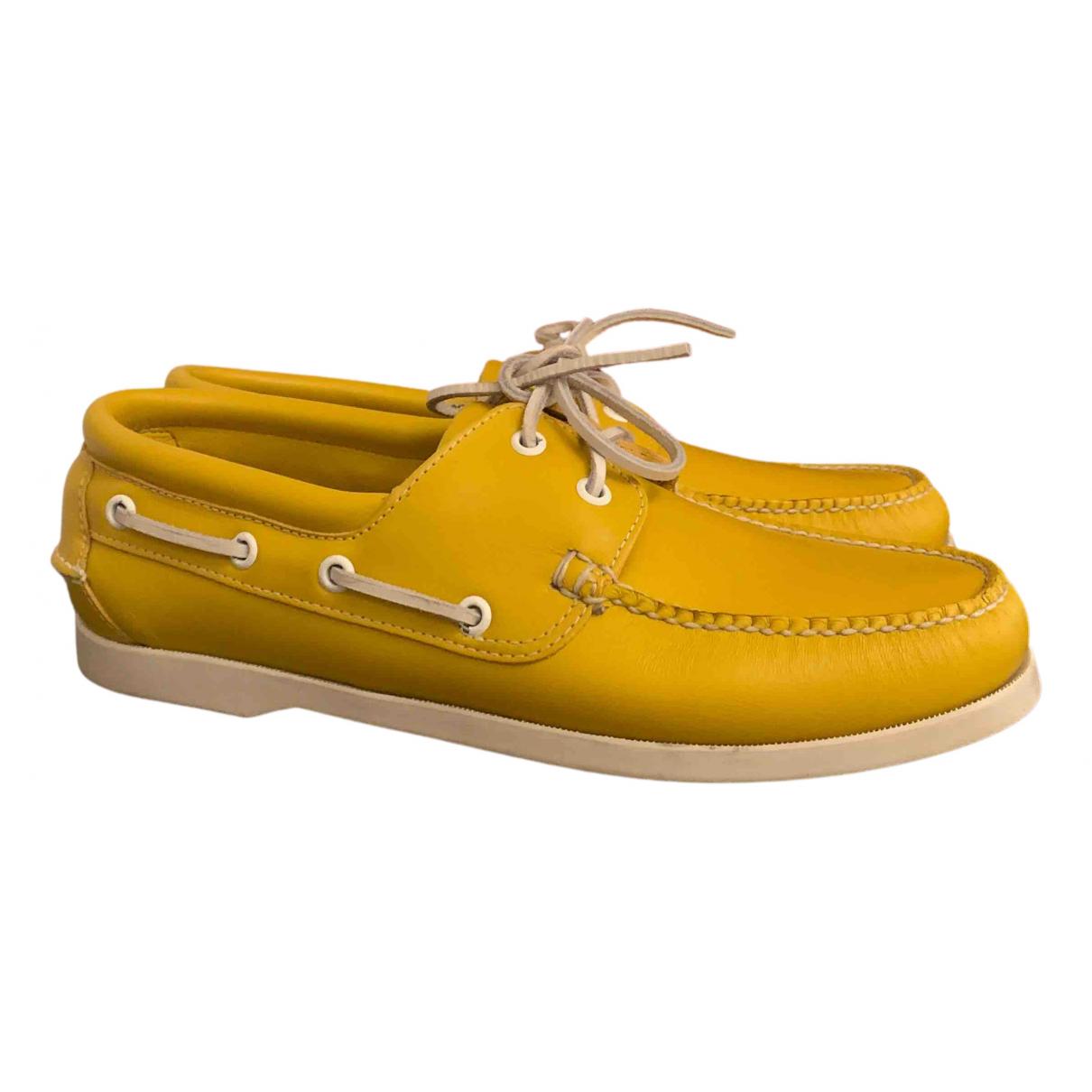 Brooks Brothers \N Mokassins in  Gelb Leder