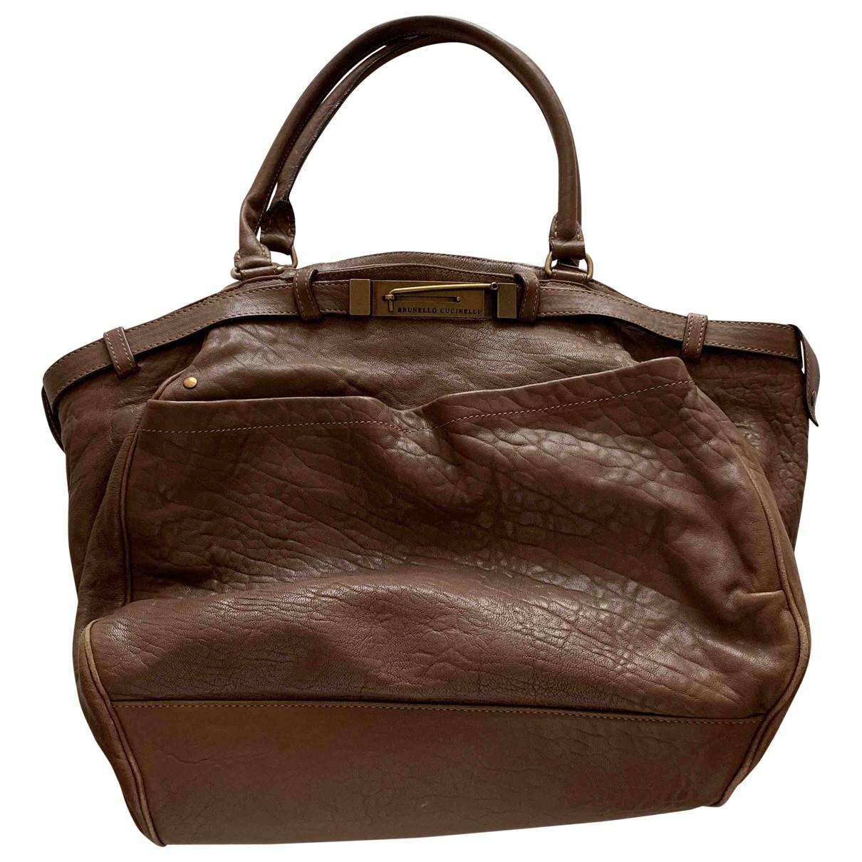 Brunello Cucinelli \N Handtasche in  Braun Leder