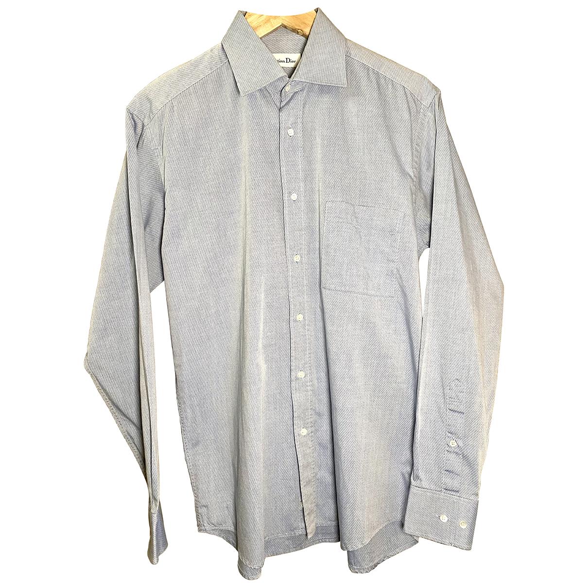 Dior N Blue Cotton Shirts for Men 38 EU (tour de cou / collar)
