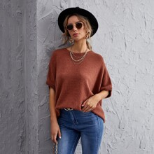 Batwing Sleeve Oversize Knit Top