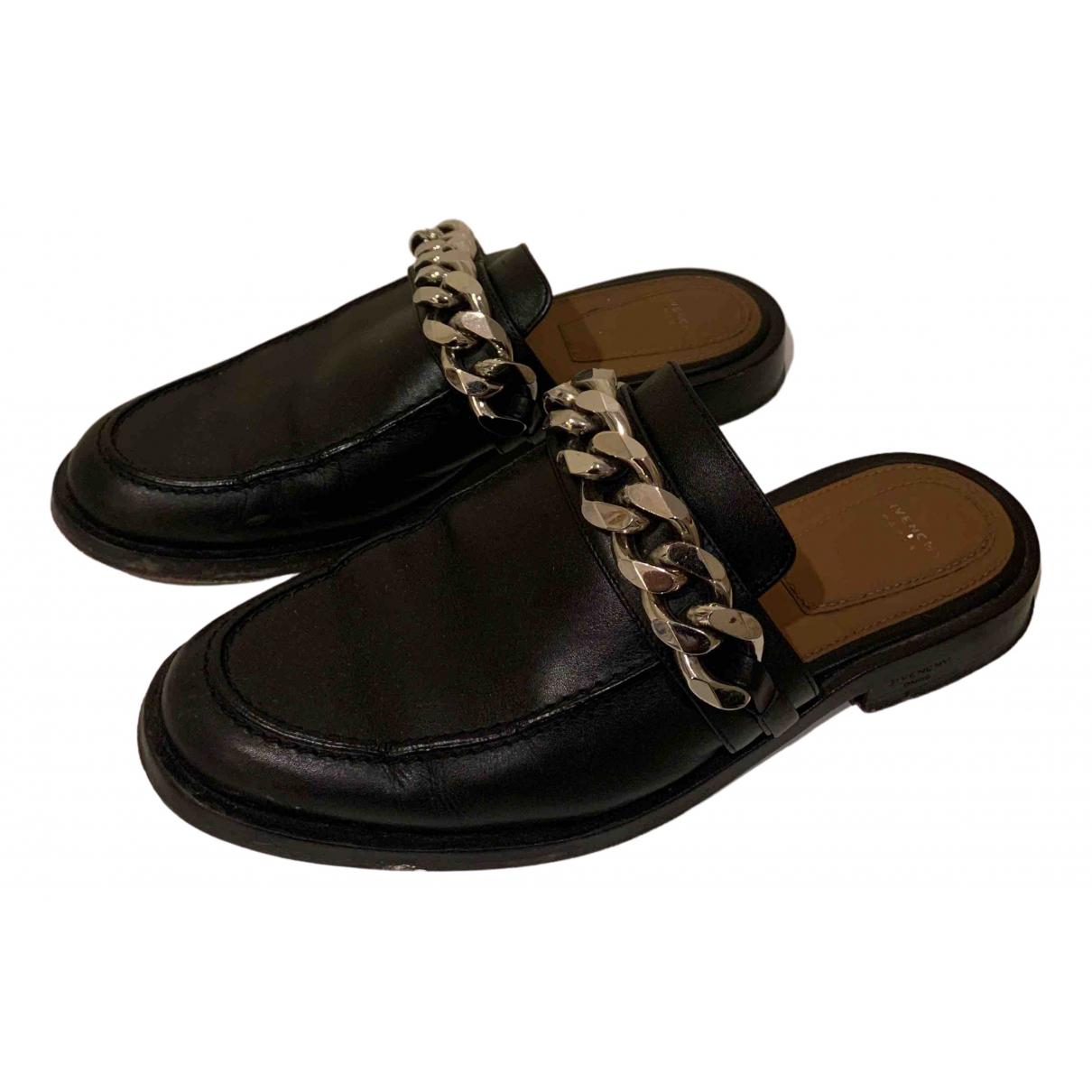 Givenchy - Sandales   pour femme en cuir - noir