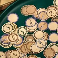 100 piezas pegatina con patron vintage