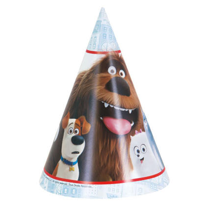 The Secret Life of Pets 8 Party Hats Pour la fête d'anniversaire