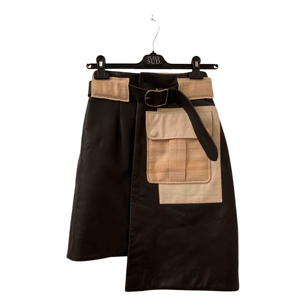 Acne Studios \N Black Leather skirt for Women 36 FR