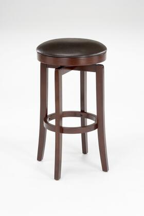 63455-826 Malone Faux Leather Upholstered Backless 360 Degree Swivel Counter Stool with Wood Frame in