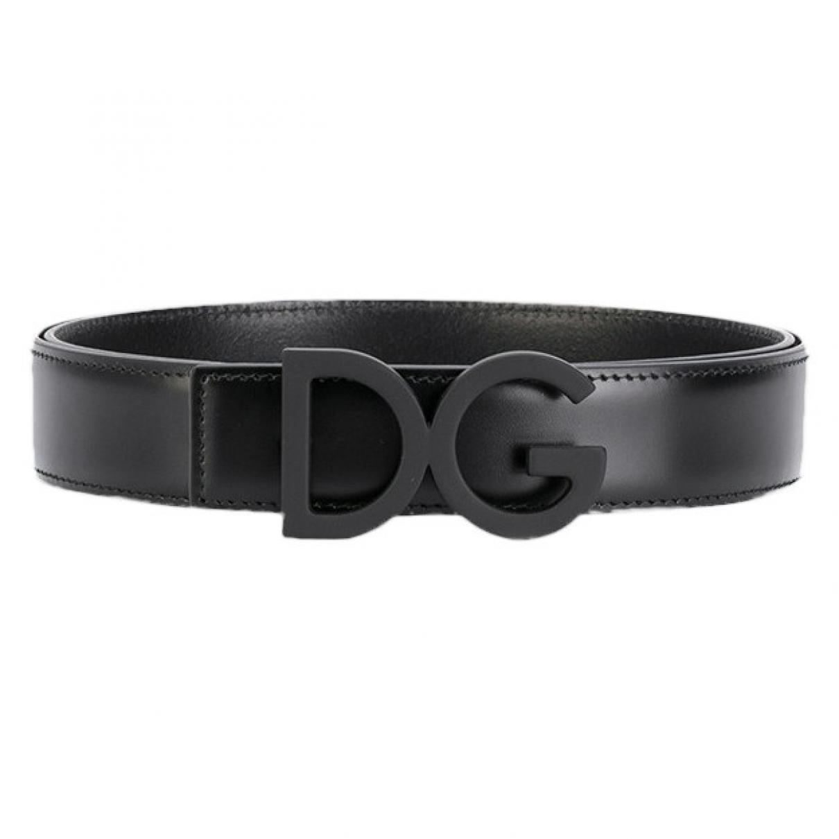 Dolce & Gabbana - Ceinture   pour homme en cuir - noir