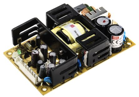 Mean Well , 75W Embedded Switch Mode Power Supply SMPS, 15V dc, Open Frame, Medical Approved