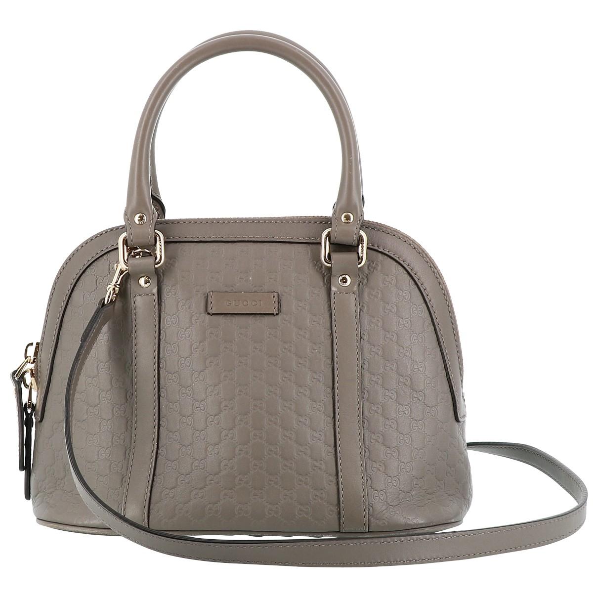 Gucci - Sac a main   pour femme en cuir - gris