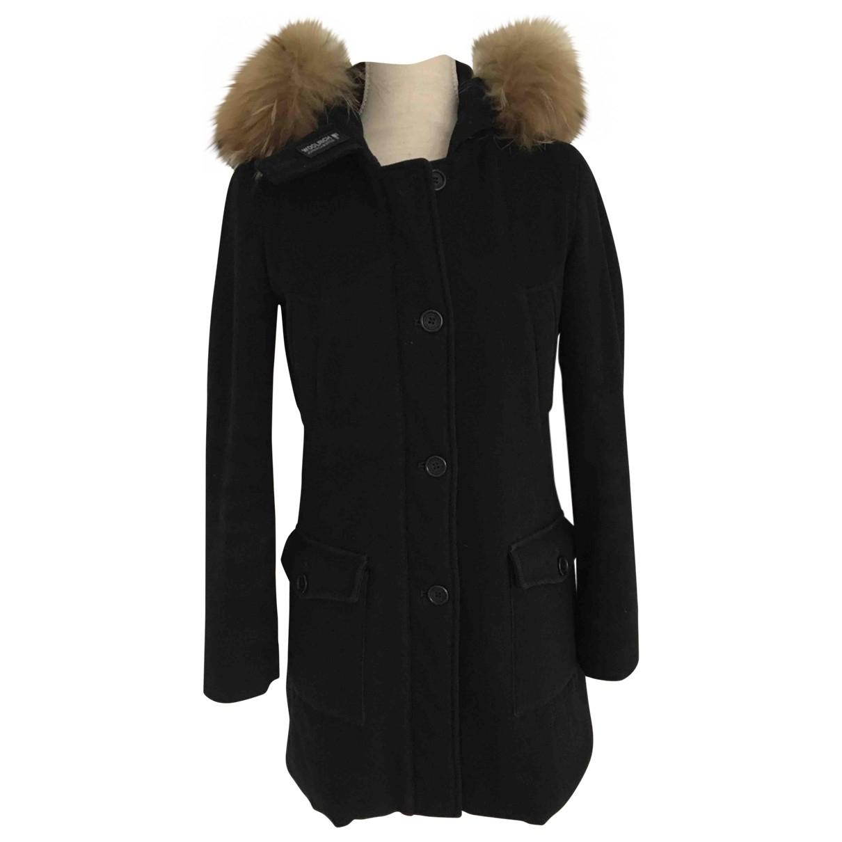 Woolrich \N Maentel in  Marine Wolle