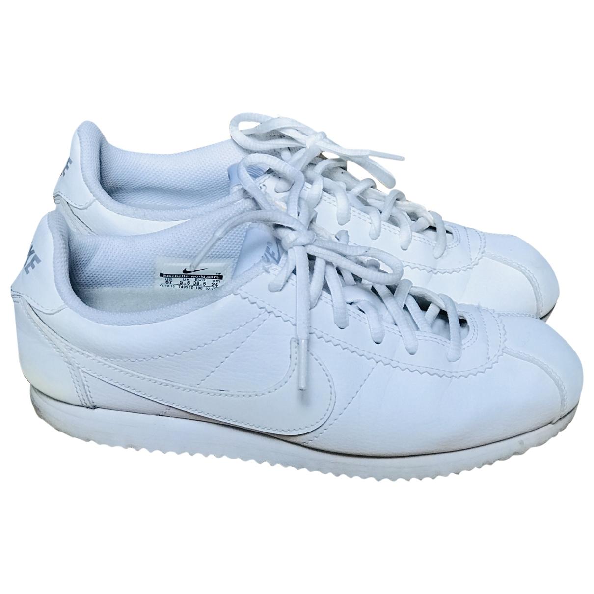 Nike - Baskets Cortez pour femme en cuir - blanc