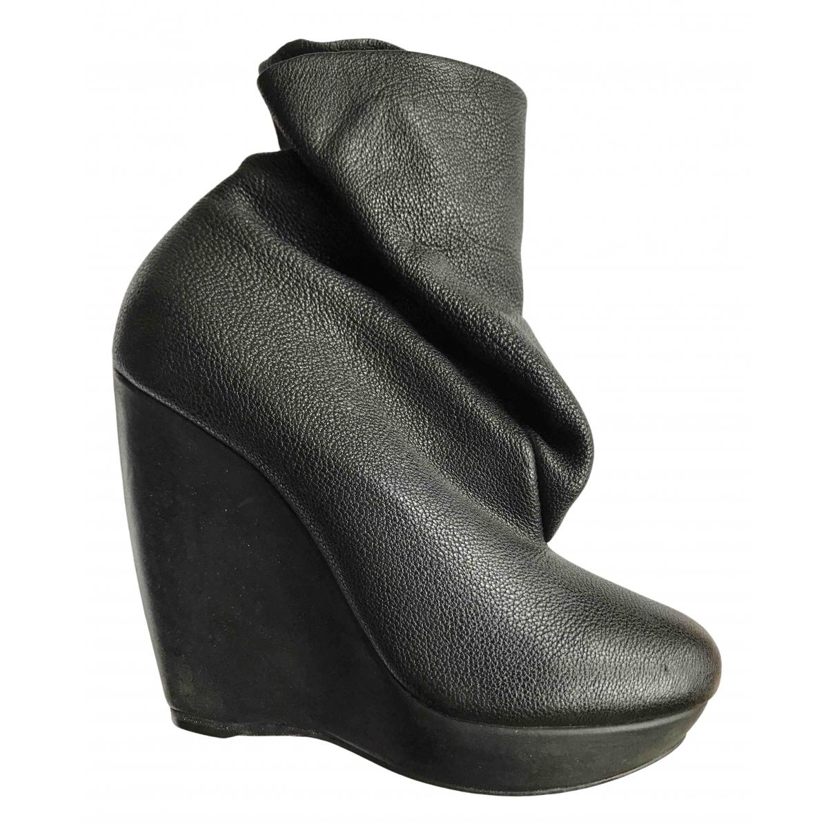 Balenciaga N Black Leather Ankle boots for Women 37 EU