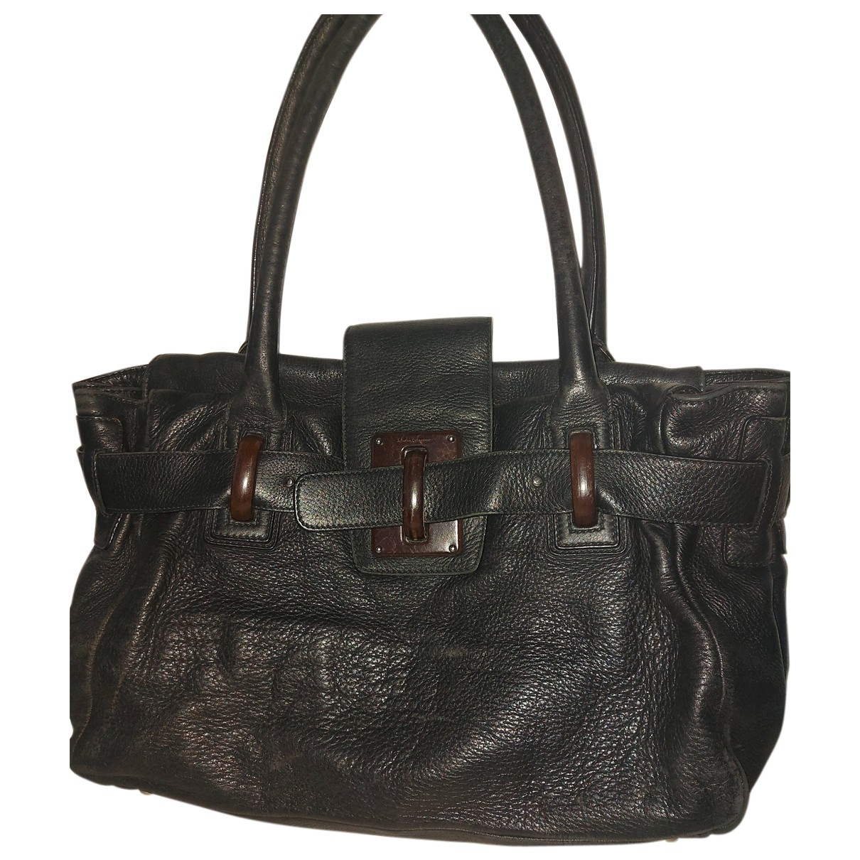 Salvatore Ferragamo Sofia Black Leather handbag for Women N
