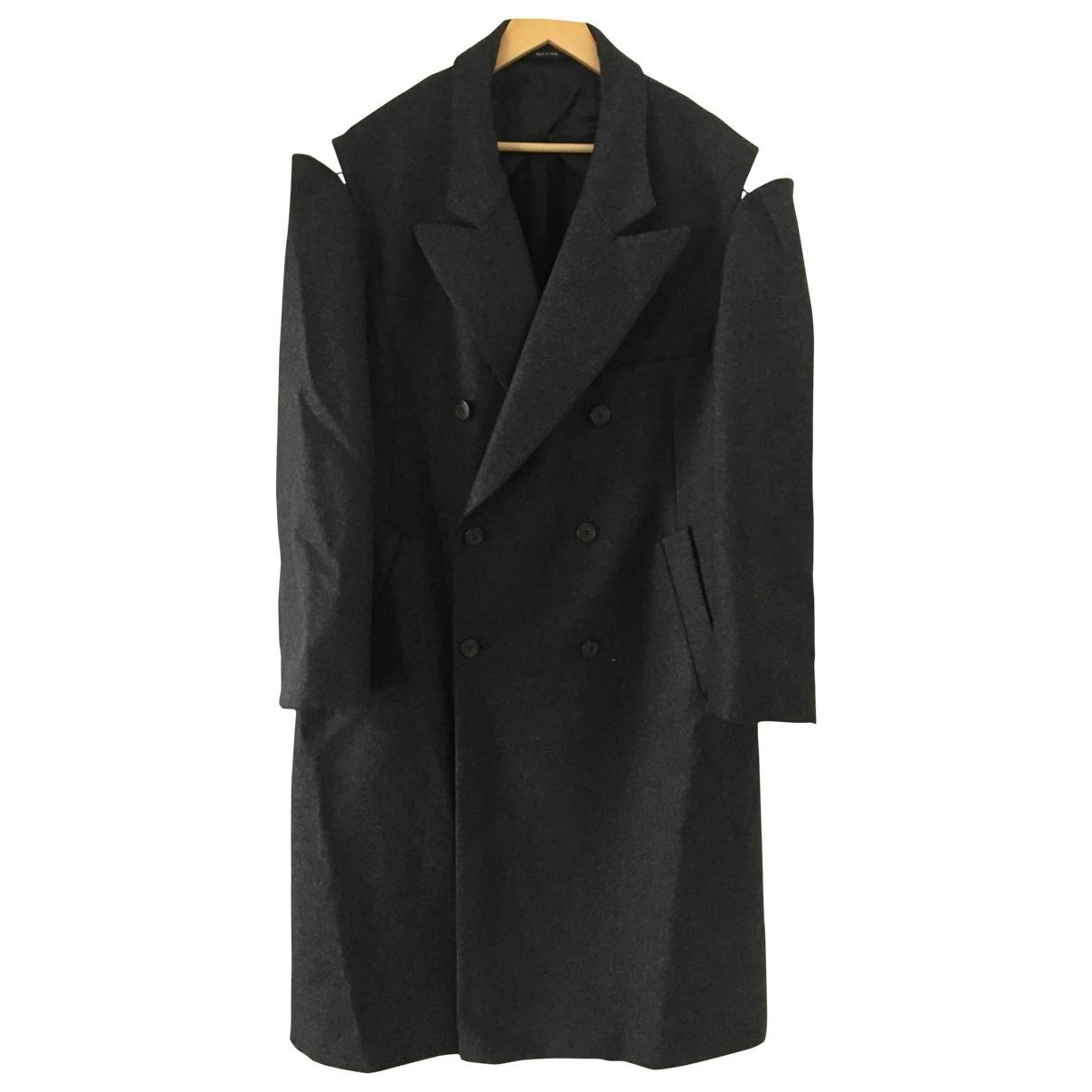 Maison Martin Margiela \N Anthracite Wool coat for Women 42 IT