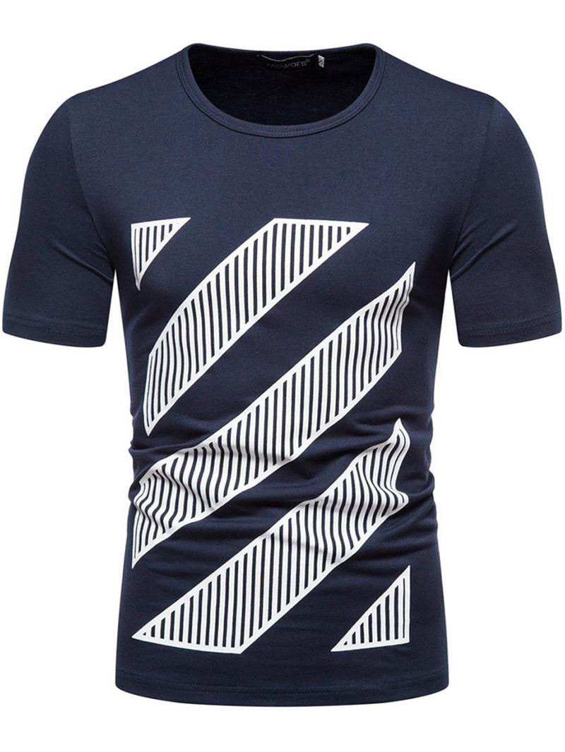 Ericdress Casual Straight Mens Short Sleeve T-shirt