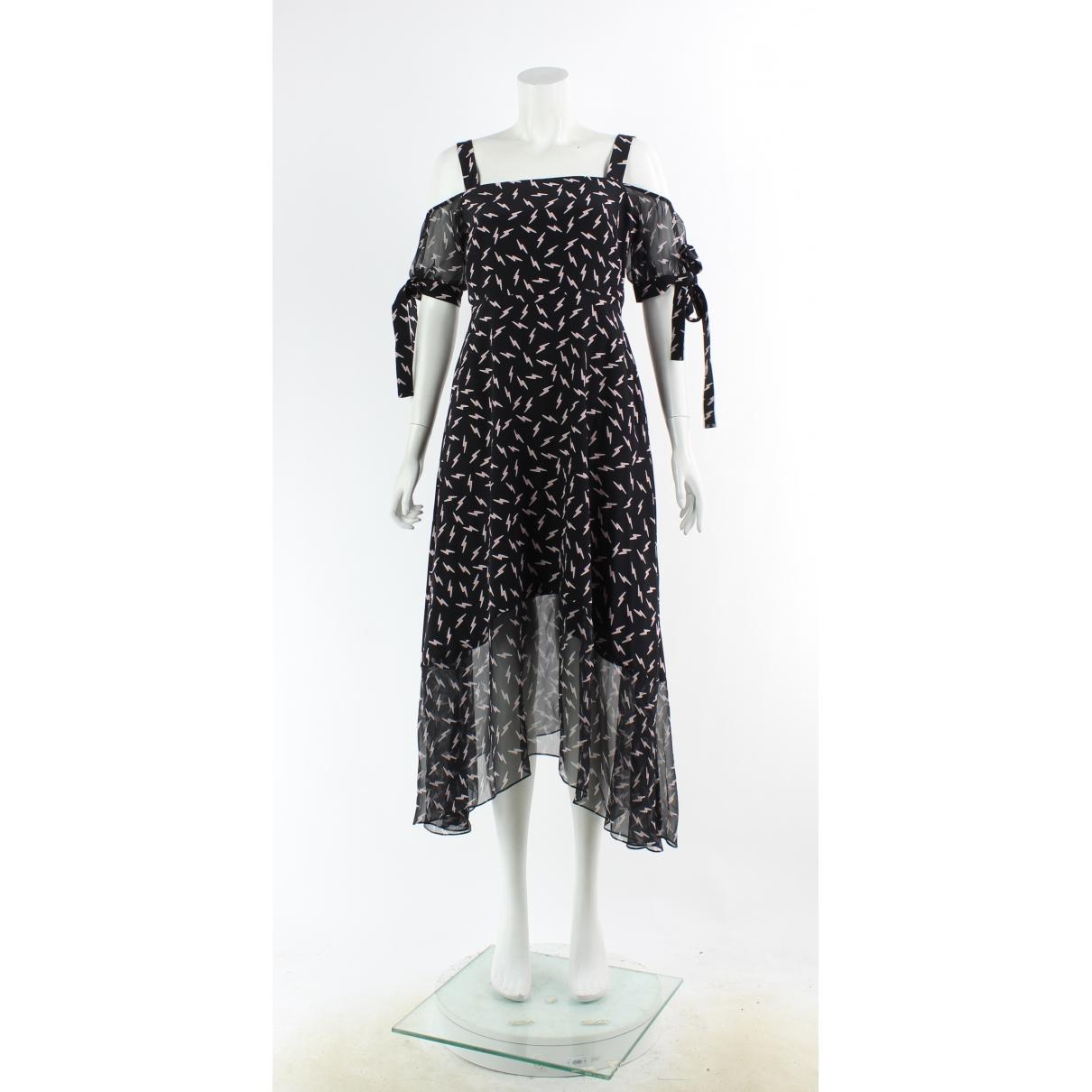 Markus Lupfer \N Kleid in  Schwarz Seide
