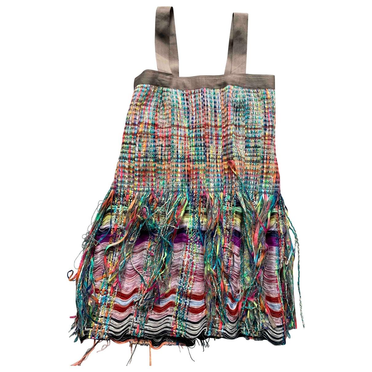 Non Signe / Unsigned \N Kleid in  Bunt Tweed