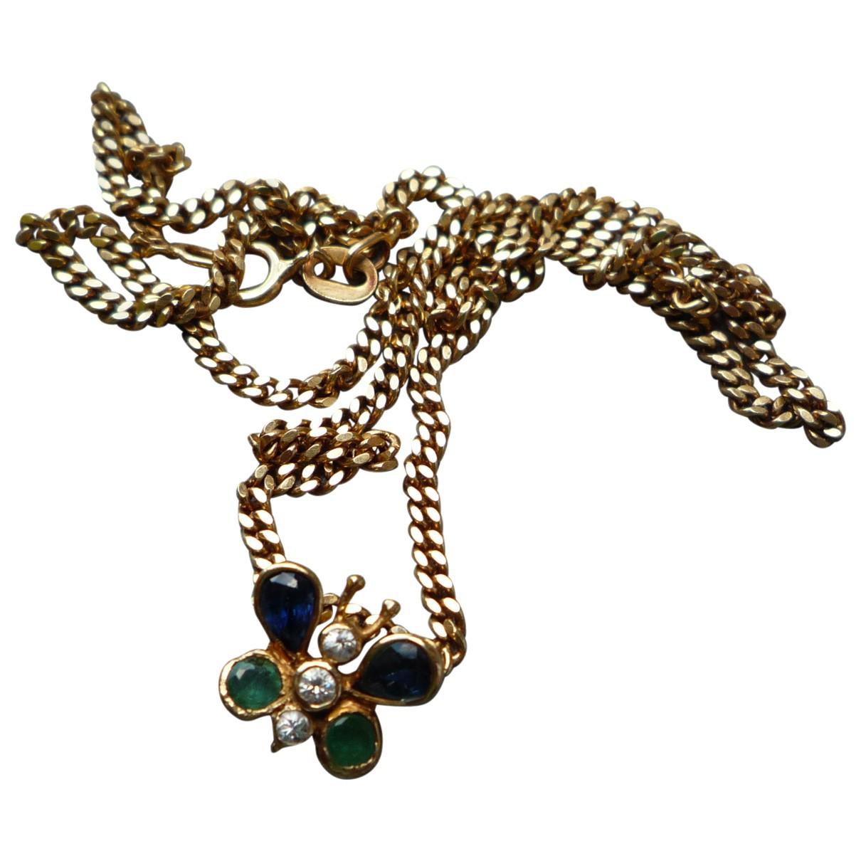 - Collier Motifs Animaliers pour femme en or jaune - dore