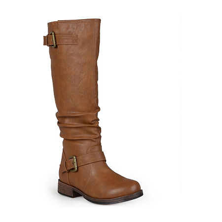 Journee Collection Womens Stormy Wide Calf Riding Boots, 9 Medium, Brown