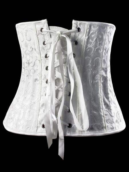 Milanoo Chic White Lycra Spandex Women's Bustier