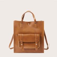Pocket Front Tote Bag
