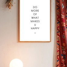 Slogan Wall Art Print Without Frame