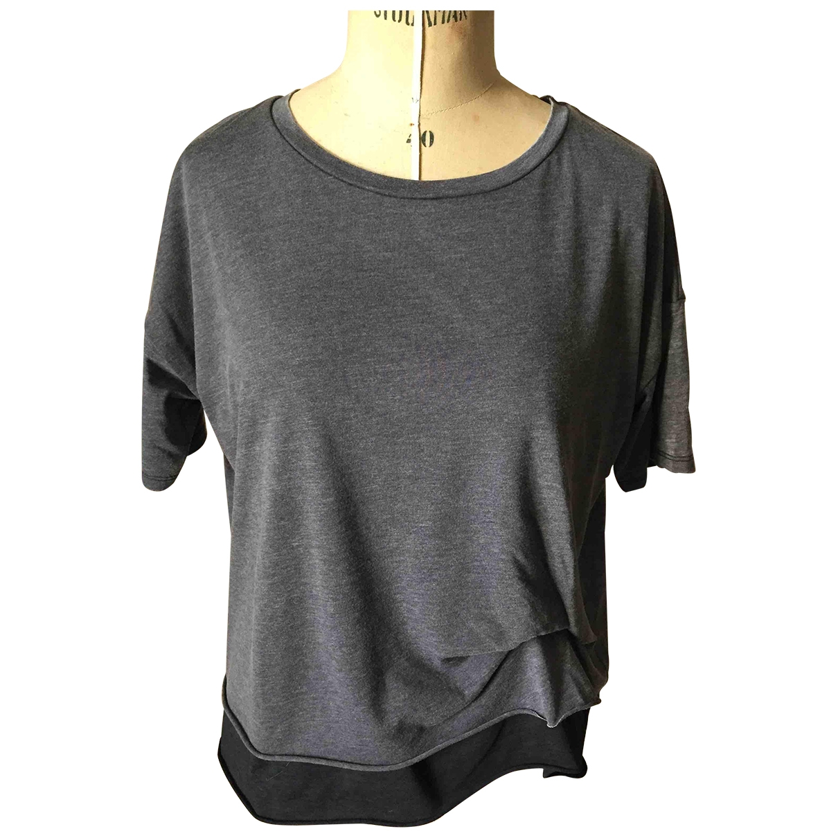 All Saints - Top   pour femme en coton - gris