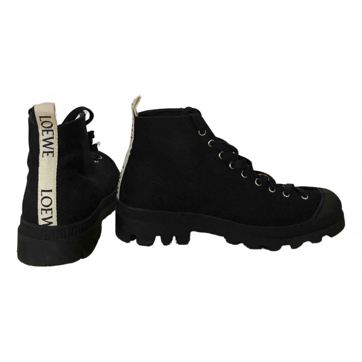 Loewe N Black Cloth Boots for Men 42 EU