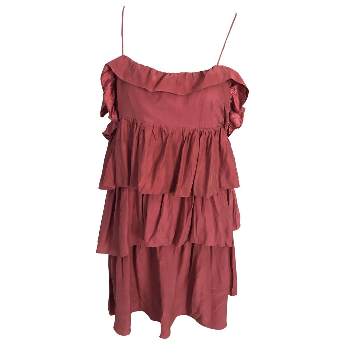 Sandro \N Pink Silk dress for Women 3 0-5