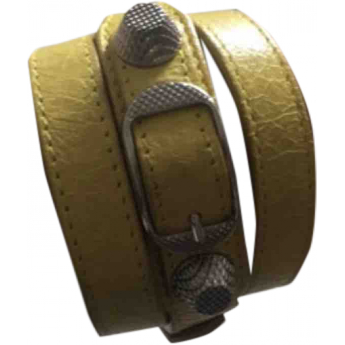 Balenciaga \N Armband in  Gelb Leder