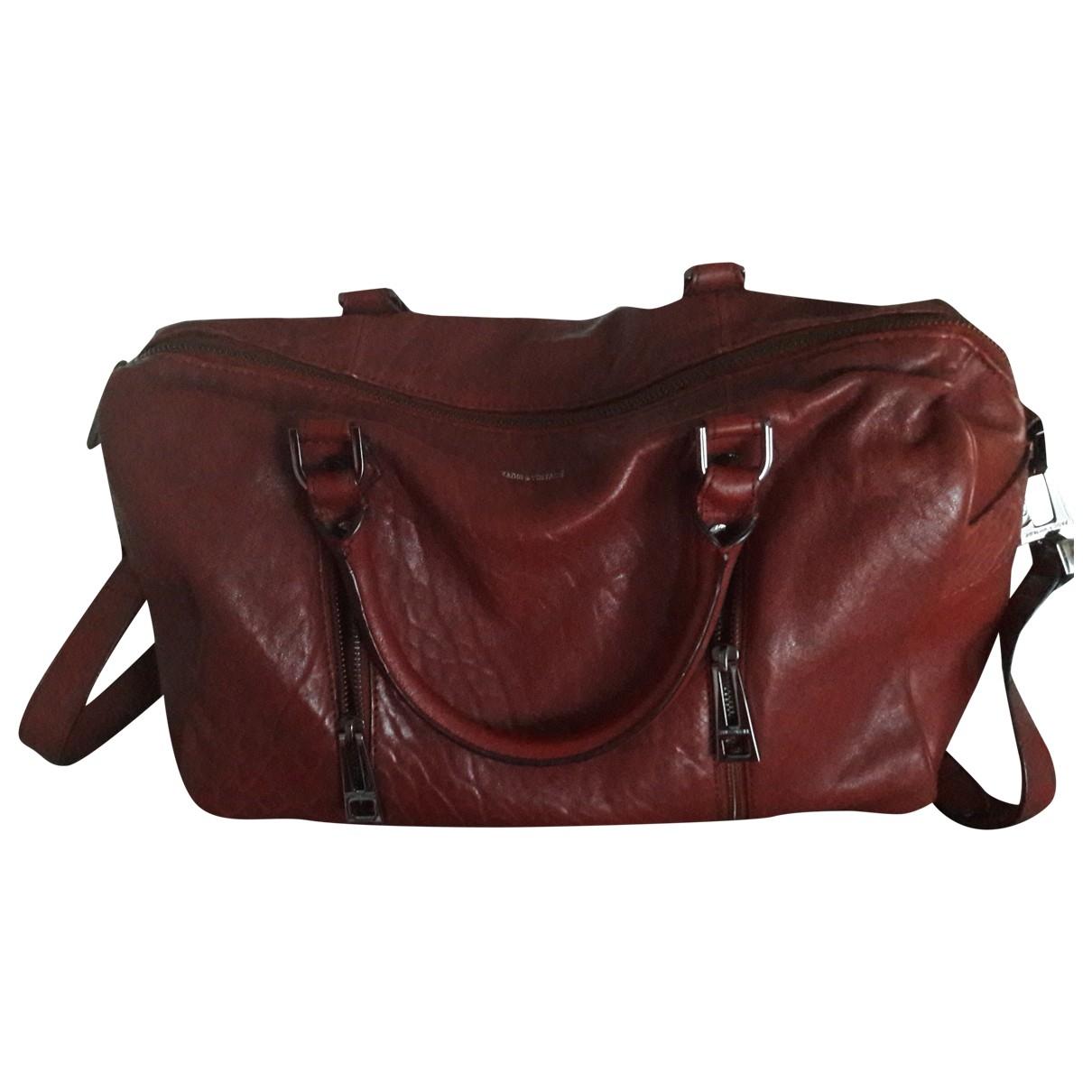 Zadig & Voltaire Sunny Burgundy Leather handbag for Women \N