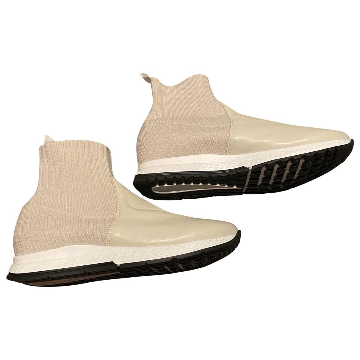 Strenesse - Baskets   pour femme en cuir - beige