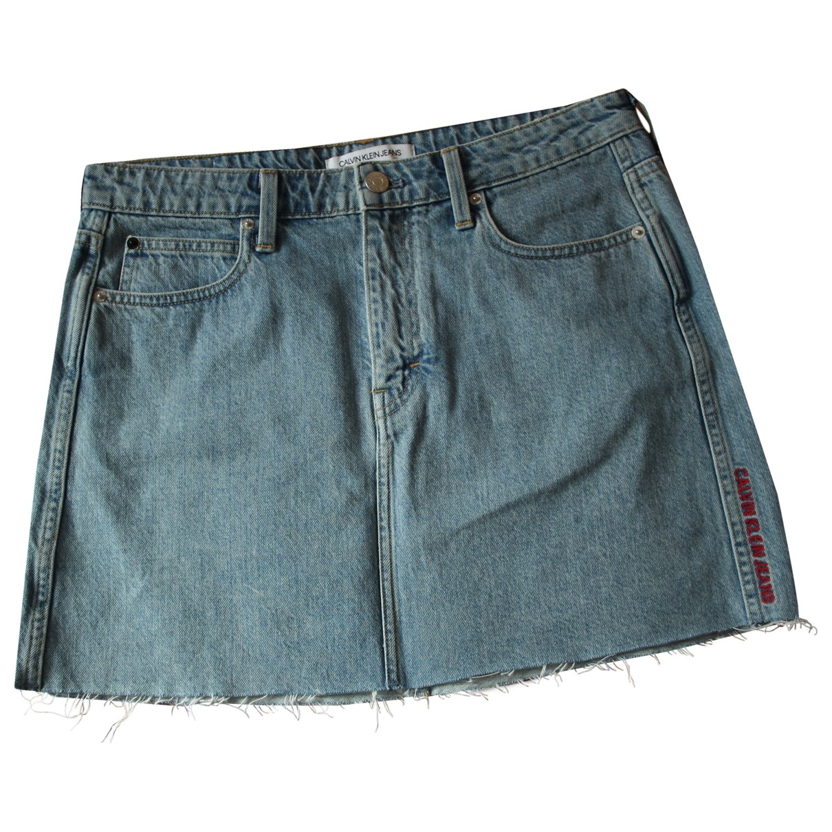 Calvin Klein \N Blue Denim - Jeans skirt for Women 38 FR