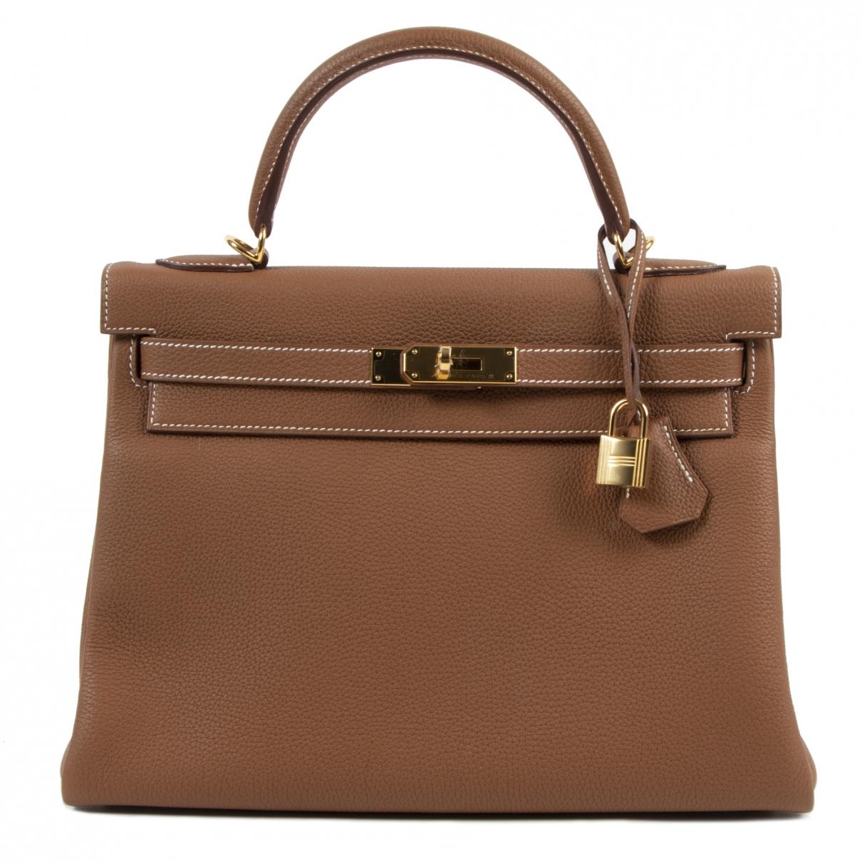 Hermès Kelly 32 Brown Leather handbag for Women \N