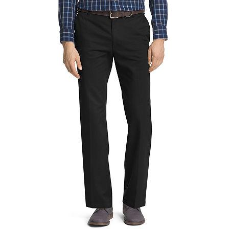 IZOD American Chino Mens Straight Fit, 32 30, Black
