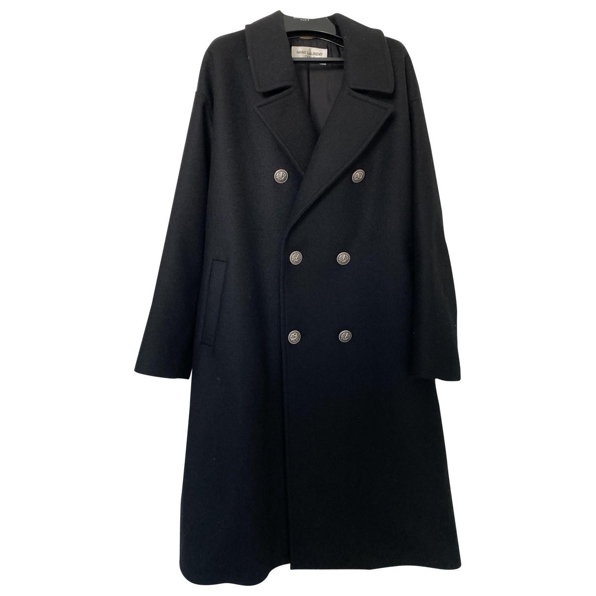 Saint Laurent \N Black Wool coat for Women 40 FR