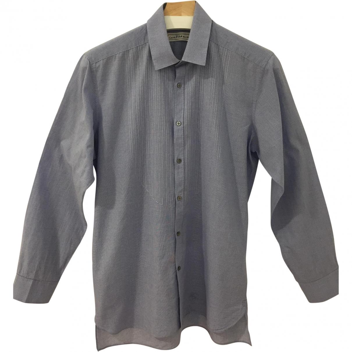 Lanvin For H&m \N Blue Cotton Shirts for Men 38 EU (tour de cou / collar)