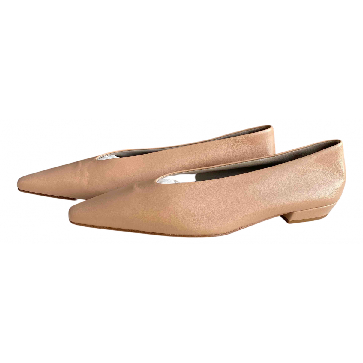 Bottega Veneta N Beige Leather Flats for Women 38.5 EU
