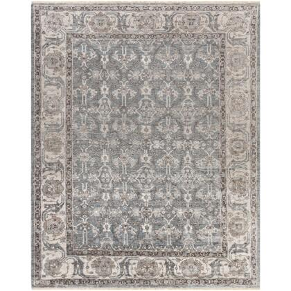 Theodora THO-3001 8' x 10' Rectangle Traditional Rugs in Medium Gray  Light Gray  Camel