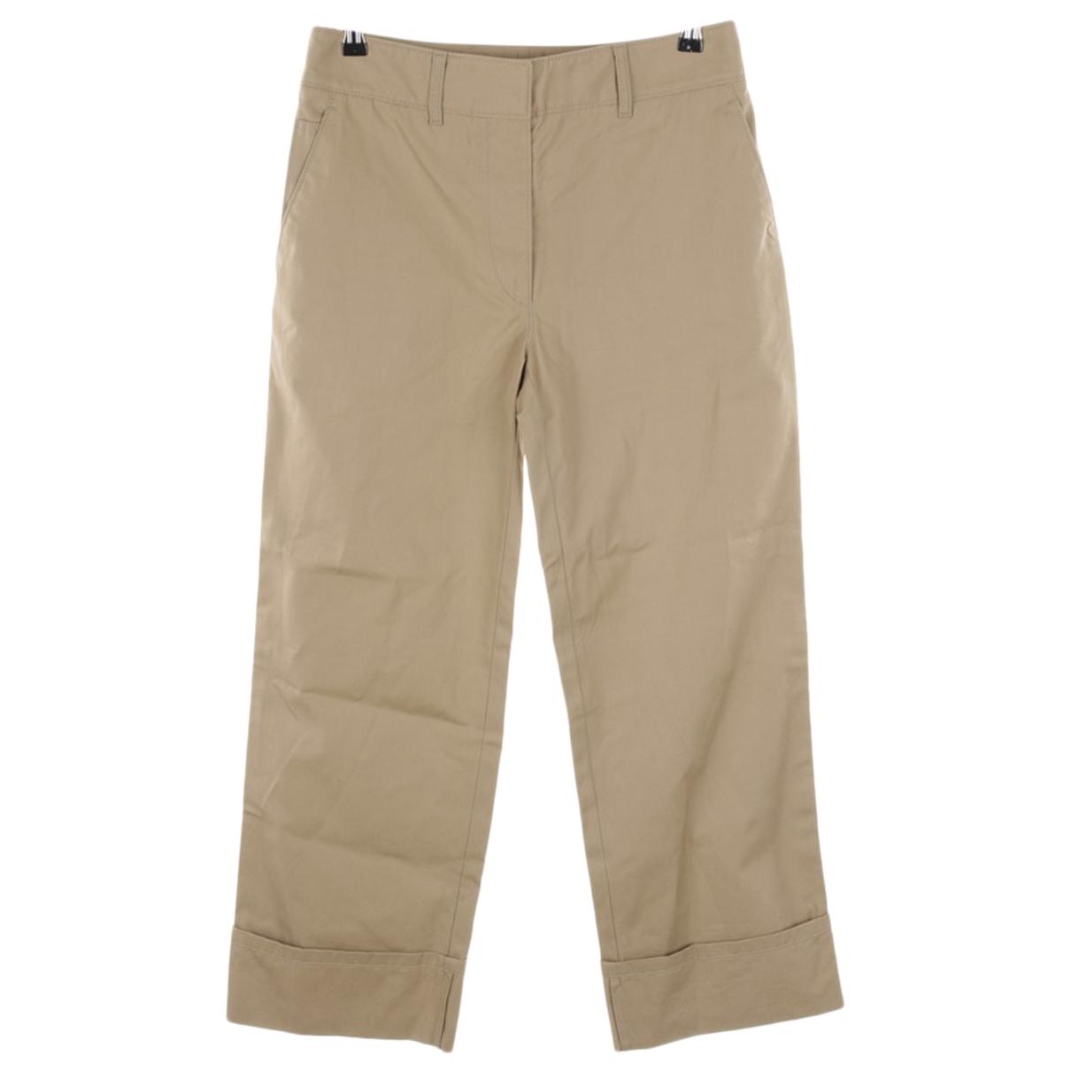 Prada N Beige Cotton Trousers for Women 36 IT